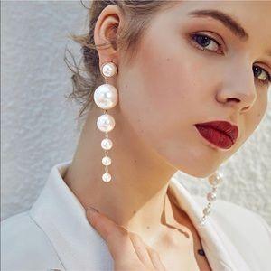 Jewelry - NEW Pearl Drop Bon Bon Earrings